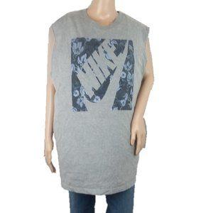 Nike Regular Fit Gray Floral Tee Shirt